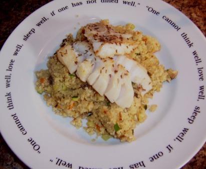 Delicate Cod with Quinoa Pilaf