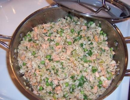Fish and rice pilaf
