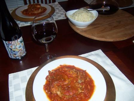 My first ever Veal Osso Buco with Garnacha Par Excellence