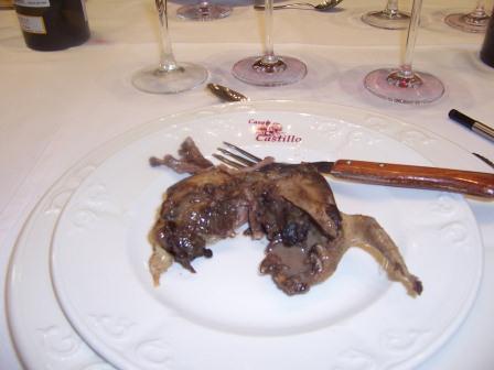 One of the delicious courses at Casa Castillo (photo Vera Czerny)