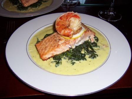Seared Salmon w Bechamel Sauce