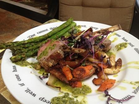 Lamb chops dressed w chimichuri Blog