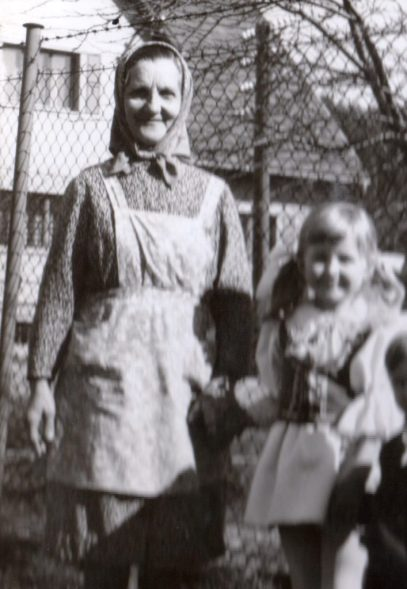 One of rare pictures with grandma, and yes that chubby girl in costume is me :)