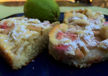 Rhubarb Bubble Cake