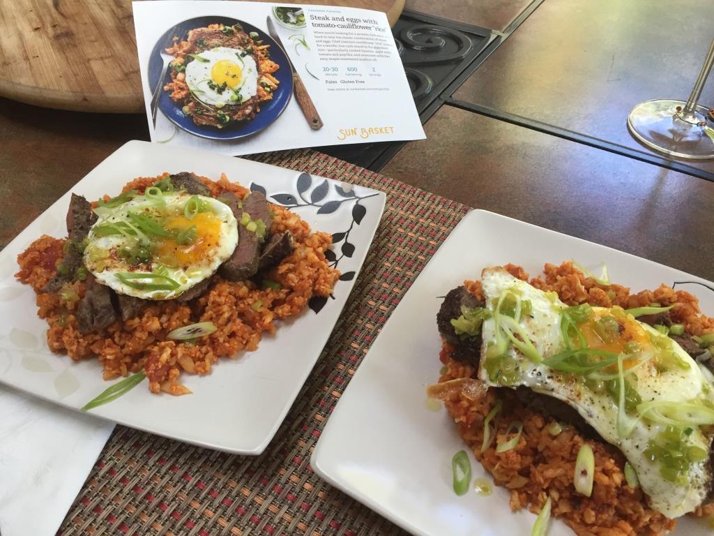 Steak and eggs with cauliflower rice